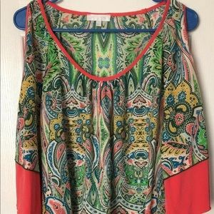 GLAM Women's Cold Shoulder Tunic Blouse